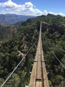 Puente colgante Barrancas del Cobre