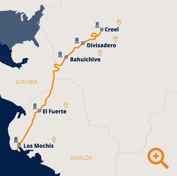 ruta tren chepe express