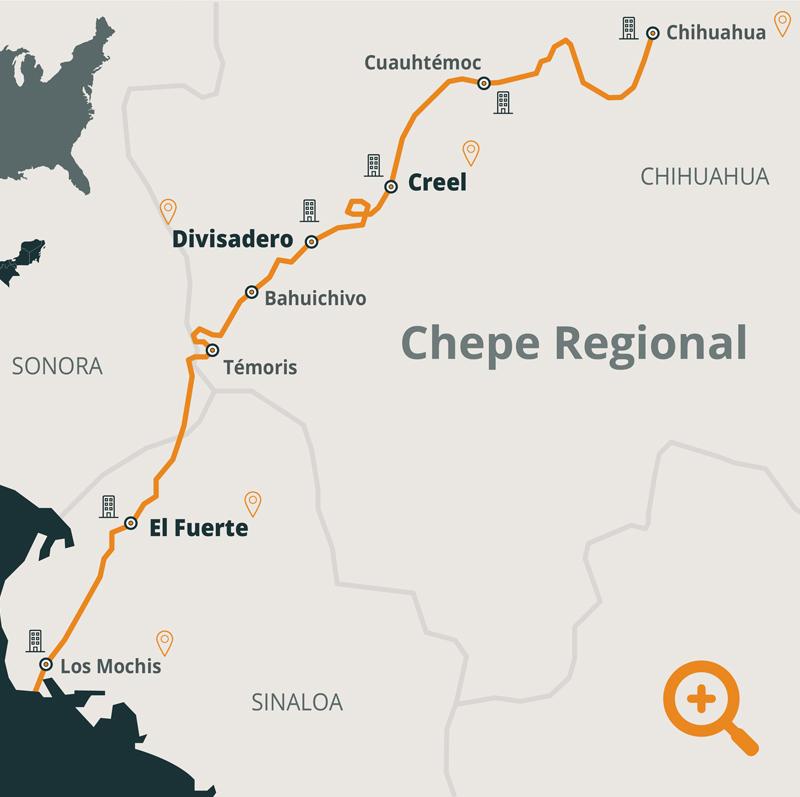 ruta tren chepe regional